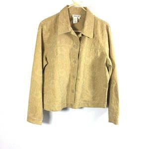 Coldwater Creek Womens Large Button Down Jacket